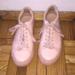 Blush Pink Patent Leather Sneakers